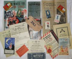 1940s EVACUEE CHILDRENS WAR TIME PACK 21 ITEMS