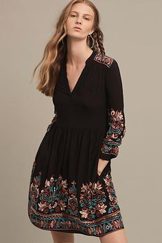 Embroidered Avery Dress - anthropologie.com