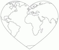 Valentine's Day Cards Earth Day Projects, Earth Day Crafts, Earth Coloring Pages, Coloring Books, Earth Day Activities, Digi Stamps, Embroidery Patterns, Ribbon Embroidery, Machine Embroidery