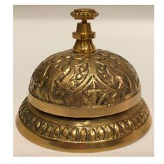 This hotel desk clerk bell is an estate sale find and has a lovely bronze base, beautifully cast with ornate detailing...