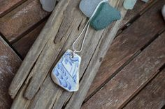Genuine Irish Sea Pottery Necklace by MajackalCreations on Etsy Irish Sea, Sea Glass Jewelry, Pottery, Pendant Necklace, Jewellery, Etsy, Ceramics, Jewelery, Jewelry Shop