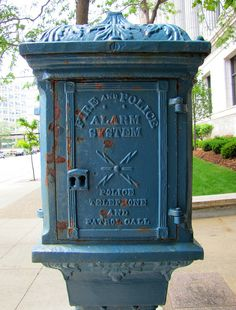 Milwaukee Police Call Box by Eridony La Crosse Wisconsin, Milwaukee Wisconsin, Lake Michigan, Police Call, Beer Company, Old Trains, Abandoned Castles, Abandoned Mansions, Home
