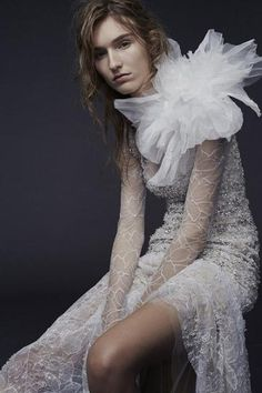 VERA WANG: A gown with gorgeous beadwork from Wang's latest bridal collection.