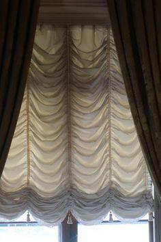 Victorian Window Treatments, Victorian Windows, Decorative Curtain Rods, Decorative Trim, No Sew Curtains, Valance Curtains, Drapery, Luxury Curtains, Luxury Bedding