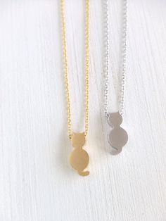 Mini Cat Jewelry Necklace in 16K Gold Plated by twinpearlsjewelry, $12.00...I just really love cats..