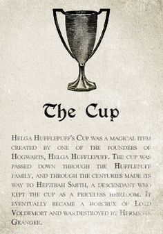 Hufflepuff: The Cup. Pottermore Sorting: Sorting Hat Analysis and Meta Theme Harry Potter, Harry Potter Facts, Harry Potter Books, Harry Potter Love, Harry Potter Universal, Harry Potter Fandom, Harry Potter World, Harry Potter Hogwarts, Hufflepuff Cup