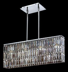 "Chrome Danube Crystal 24"" Wide Pendant Chandelier -"