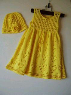 Vestido tejido dos agujas