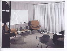 Lustig interior, 1951-52; Living room in Lustron rental house, Croton-on-the-Hudson
