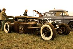 I love the white wall tires on this rat rod