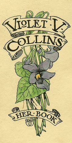 Violet V. Collins Bookplate. BMC artist. Pratt Institute Libraries, Special Collections 219 (sc00013)