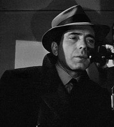 Humphrey Bogart on the phone in The Maltese Falcon (John Huston, 1941) gif set by siochembio