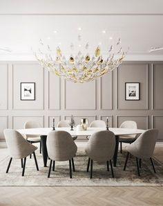 Home Living Room, Interior Design Living Room, Living Room Decor, Kitchen Interior, Dining Room Walls, Dining Room Design, Dining Room Paneling, Modern Wall Paneling, Kitchen Design