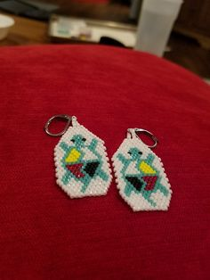 Beaded Earrings, Crochet Earrings, Native American Beading, Brick, Patterns, Beads, Jewelry, Block Prints, Beading