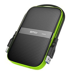Introducing 2TB Silicon Power Armor A60 Shockproof Portable Hard Drive  USB30  BlackGreen Edition. Great product and follow us for more updates!