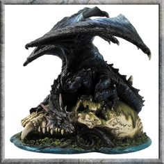 Spoils of War 21cm (P4)       Ref: NEM4441    Category: Dragons  Function: Figurine  Material: Resin  Colours: Black  Size (largest dimension): 21cm approx.  Weight: 1kg approx.