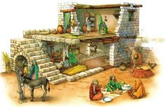 Cutaway Biblical home