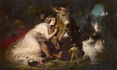 Scene from A Midsummer Night's Dream. Titania and Bottom | Edwin LANDSEER | NGV