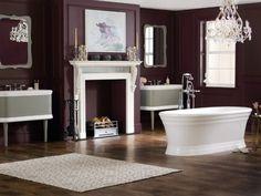 Une salle de bains rétro fastueuse et féminine