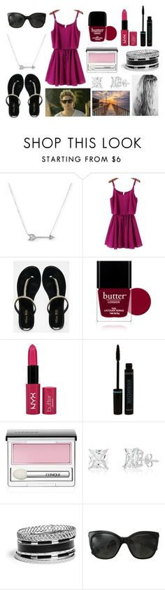 """""""Boardwalk with Niall"""" by sarahorantomlinson ❤ liked on Polyvore featuring Adina Reyter, Miss KG, Butter London, NYX, Clinique, GUESS and Chanel"""