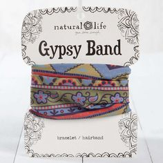 These reversible Gypsy Bands look great as a cuff or bracelet, and makes a perfect pony holder!