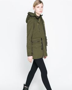 Image 2 of HOODED PARKA WITH DETACHABLE LINING from Zara