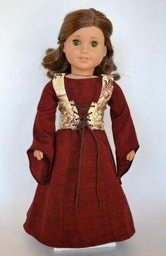 Medieval Era Fantasy 3 piece American Girl by JennyWrensDressShop, $95.00
