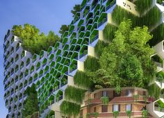 the proposal by vincent callebaut presents eight different tower typologies that each integrate elements renewable energy within the city's urban fabric.