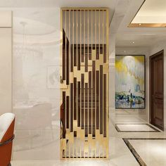 Stainless Steel Room Divider - One Living Room Partition Design, Living Room Divider, Room Divider Walls, Room Partition Designs, Room Dividers, Office Dividers, Metal Room Divider, Office Partitions, Divider Design