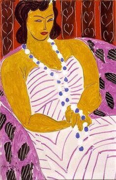 "Henri Matisse -"" Dame à la robe blanche (Woman in White),"" 1946."