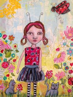 Effie Sue Designs: Commissioned painting~ Ladybug and friends