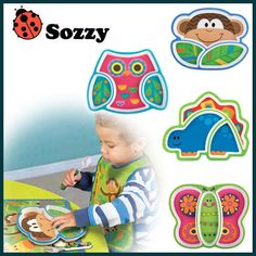 High Quality 6M+ Infant Baby Kids Children Safe Feeding Tableware Zoo Animal Melamine Dishes Plate enfant pratos platos