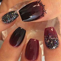 Fall Nails -                                                                                          Stephanie Loesch @_stephsnails_ VampireShiek #mar...Instagram photo | Websta (Webstagram)