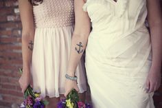 anchor tattoos. #sisters