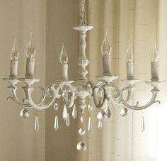 new *old* chandelier in my kitchen