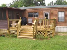 Cute Exterior Porch and Decks for Mobile Homes