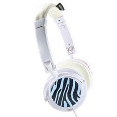 White Chameleon Headphones Zebra now featured on Fab.
