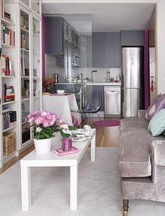 Small Apartment Decor. Decoração de Apartamento Pequeno. Decoracion de Apartamento pequeño.