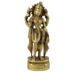 Amazon.com: Hindu Religious Statue Brass Sculpture Goddess Laxmi 2 X 1.5 X 5.75 Inches: Home & Kitchen