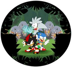 Sonic mania plus Shadow The Hedgehog, Sonic The Hedgehog, Hedgehog Art, Silver The Hedgehog, Sonic Funny, Sonic 3, Sonic Fan Art, Rouge The Bat, Classic Sonic