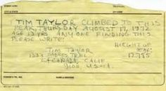 Foresight: Forty-year-old note from Tim Taylor, age 13 (ABC News)