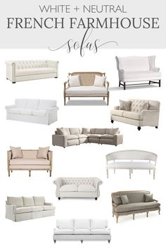 Are you looking to buy a living room sofa? This shopping guide full of discount sofas will help you find the best French farmhouse couch. -----> #livingroomsofa #farrmhousesofa #sofaideas #sofastyles #comfysofa #couches #sofas #farmhousecouches #livingroomcouches #designthusiasm