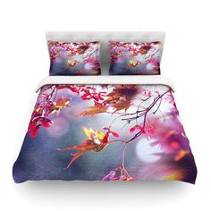 "Sylvia Cook ""Autumn"" Cotton Duvet Cover from KESS InHouse"
