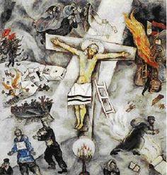 L'Olocausto nella Pittura on Pinterest | Auschwitz, Marc ... Chagall White Crucifixion