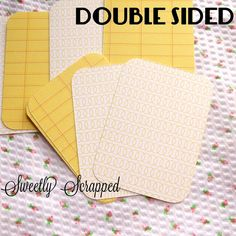 20 Double Sided Journal Cards Project Life by SweetlyScrappedArt, $2.79
