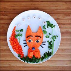 What does the fox say?#PlumOrganics #FoodArt #Shredz #SuperPuffs