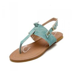Grand Flip Couleur Pure Boucle De Taille Flops Glissement Sur Des Sandales Plates Slingback Hml3VrK