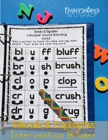 Great intervention resource! Blends and Digraphs Intervention Binder$ for RTI