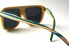 Recycled Skateboard Sunglasses  Bamboo by SecondShot on Etsy, $99.99