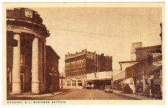 BC – NANAIMO, Church Street, Plaza Hotel, Lovick's Studio, Bank of Commerce c.1930s PPC